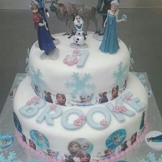 Frozen two tier cake